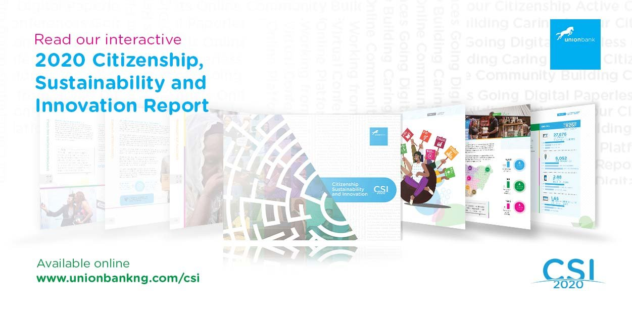 Union Bank unveils its 2020 citizenship, sustainability and innovation (CSI) report
