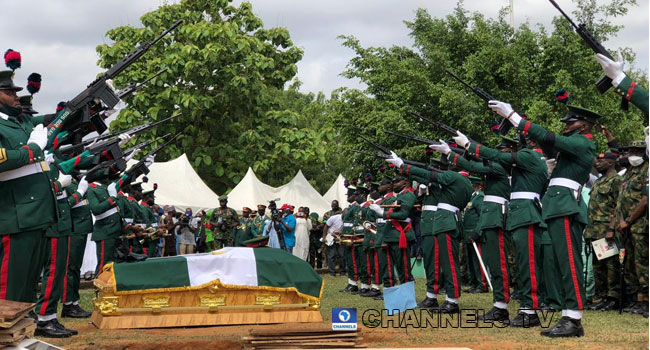COAS Attahiru, other military personnel, laid to rest in Abuja (PHOTOS)