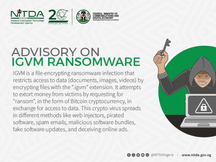 NITDA to Nigerians: Don't pay ransom to IGVM