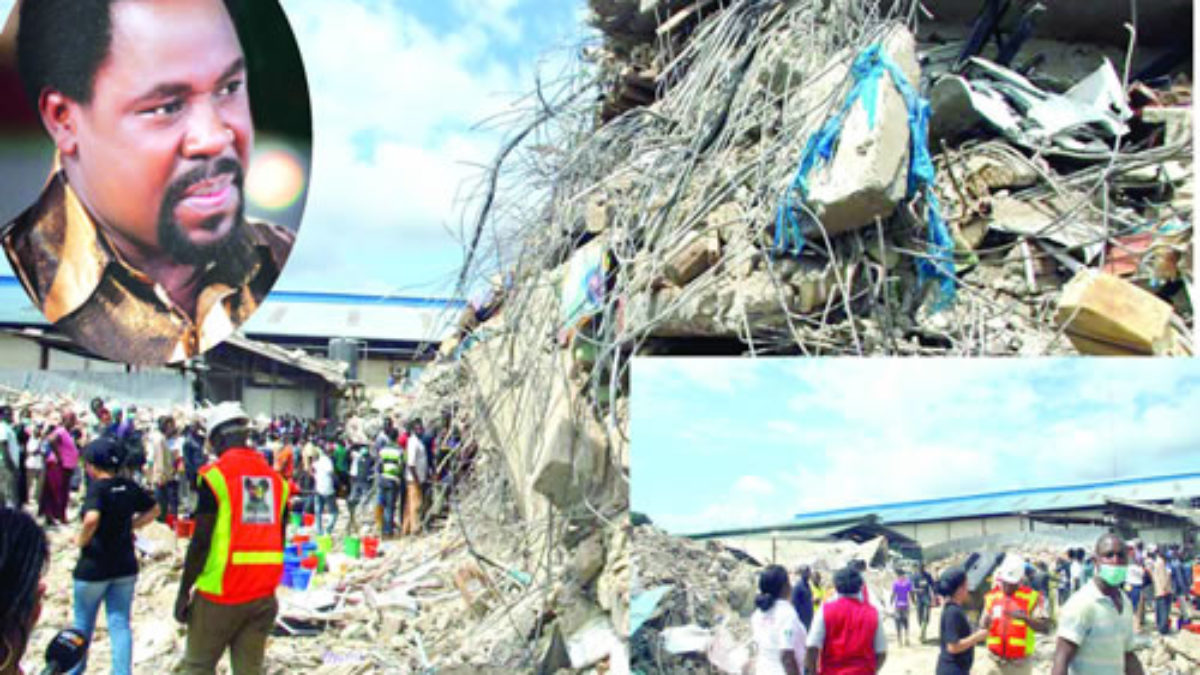 Building collapse: I was the target, TB Joshua declares - PAN AFRICAN  VISIONS