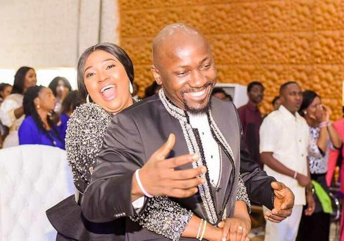Apostle Suleman, wife in 17thwedding anniversary romantic play