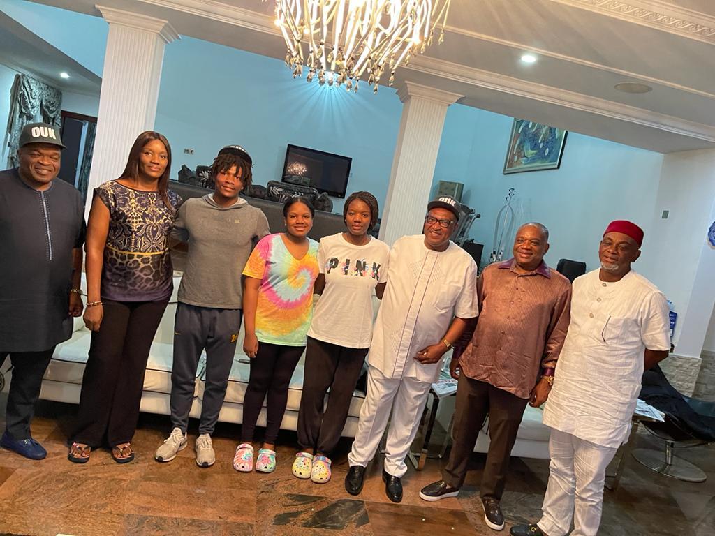 Uche Eke visits Africa pillar of sports, Orji Kalu