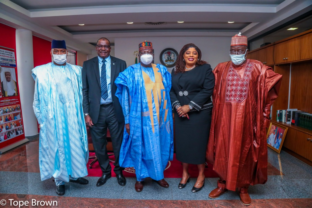 Fidelity Bank's courtesy visit to the office of the Senate President
