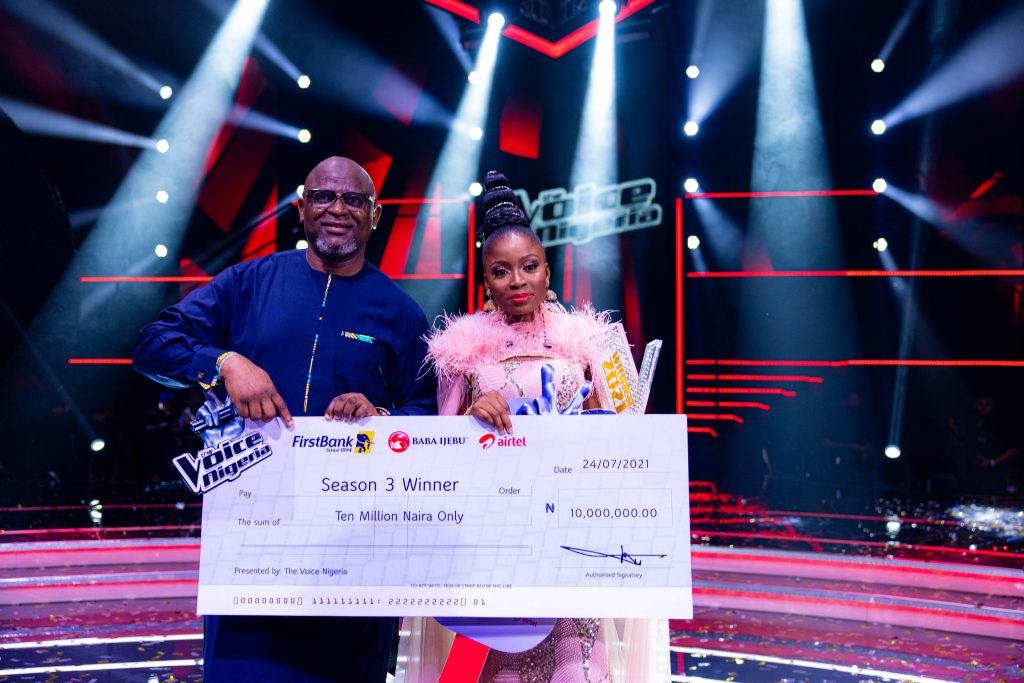 First Bank presents Grand Prize winner of 'The Voice Nigeria'