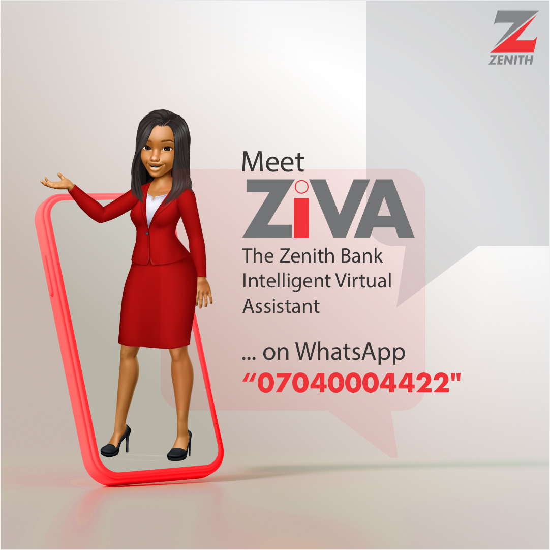 Zenith Bank offers additional engagement channel with Ziva Chatbot