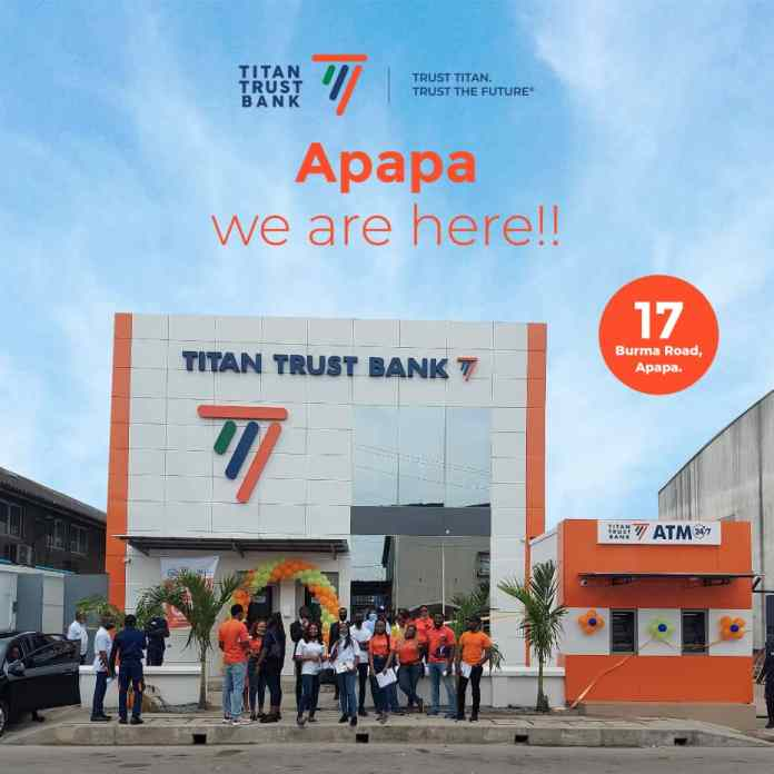 Excitement as Titan Trust Bank opens Apapa, Lagos branch