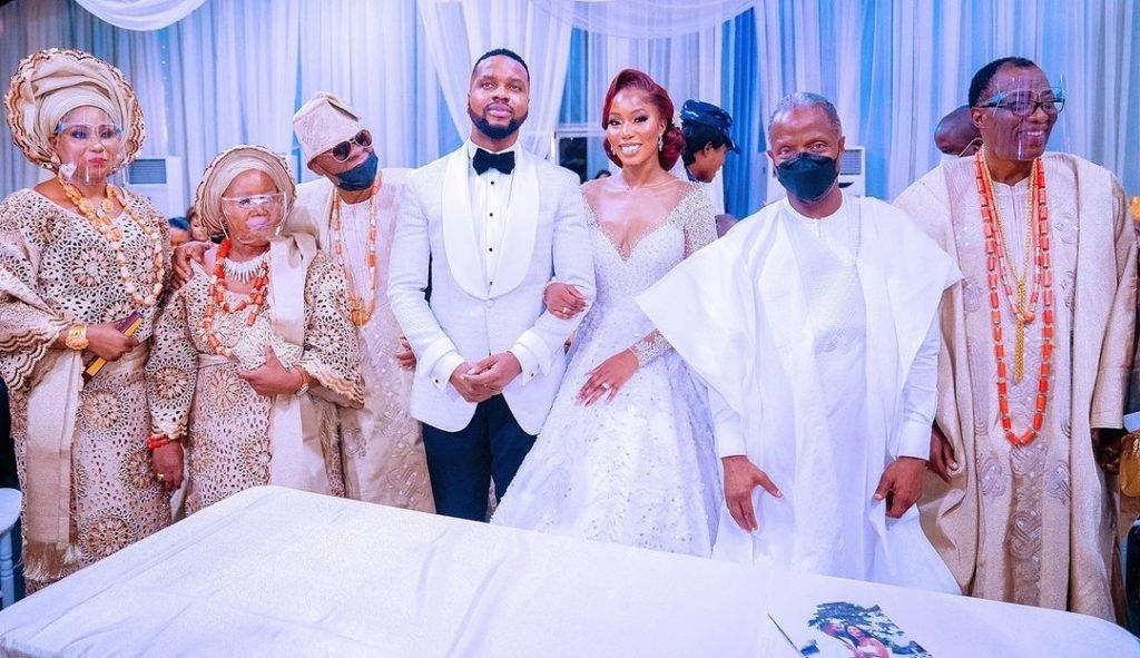 PHOTOS: Osinbajo, Jonathan present as Gbenga Daniel's daughter weds