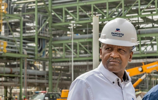 Dangote: 57,000 personnel to benefit from work at refinery site
